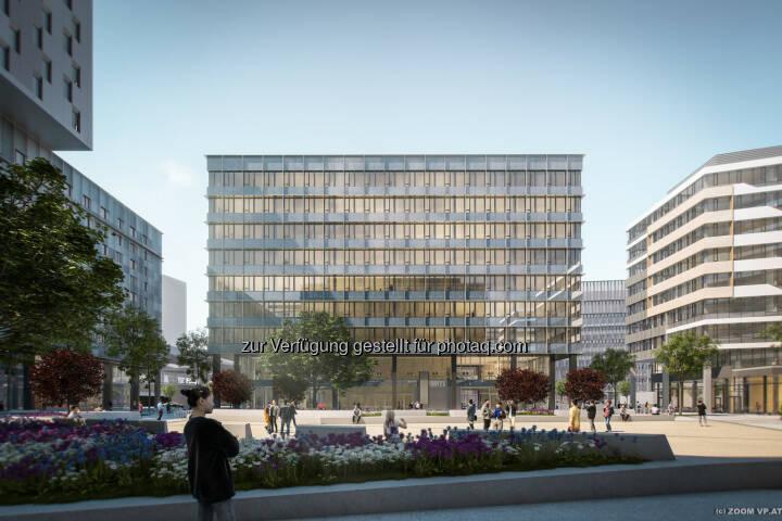 UBM Development AG und S IMMO AG schließen noch in der Entwicklungsphase einen Forward Deal für das dritte Baufeld des Quartier Belvedere Central – QBC 3 – mit Union Investment ab. (Bild: ZOOM VP.AT)