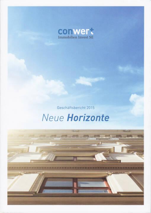 conwert Geschäftsbericht 2015 - http://boerse-social.com/companyreports/show/conwert_geschaftsbericht_2015
