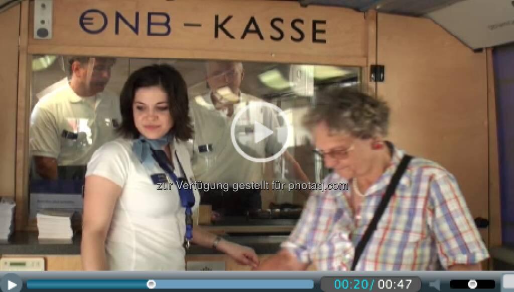 OeNB-Kasse: Start der Euro-Info-Tour 2013 - http://www.oenb.at/euro-bus (06.05.2013)