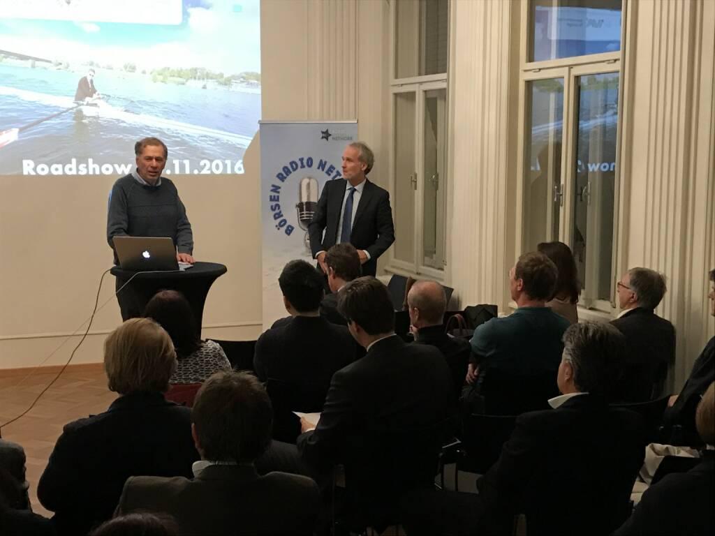 Roadshow in der Klimt-Villa, Wilhelm Rasinger (IVA), Christian Drastil (BSN)l (25.11.2016)