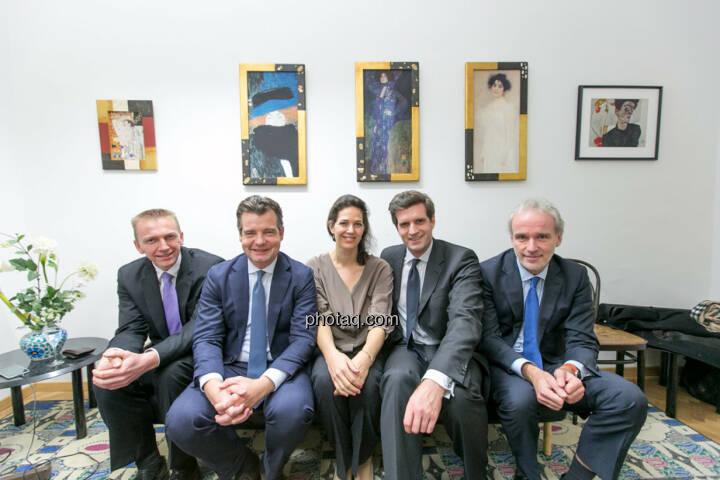 Rene Hoffmann (Vonovia), Marc Tüngler (DSW), Christine Reitsamer (Baader Bank), Clemens Billek (conwert), Christian Drastil (BSN)