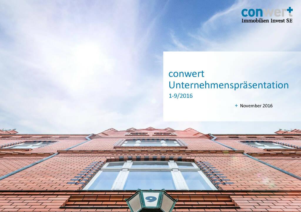 conwert Unternehmenspräsentation (28.11.2016)