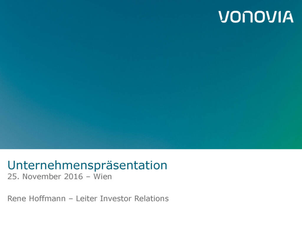 Vonovia Unternehmenspräsentation (28.11.2016)