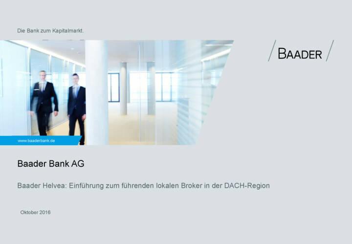 Baader Bank Präsentation Bild 58841 // Präsentation Baader Bank ...