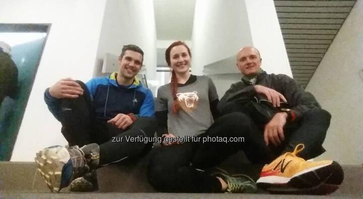 Markus Steinacher mit Ena und Christoph von bear performance