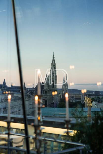 Rathaus, Dämmerung, Wien, © Martina Draper (15.12.2012)