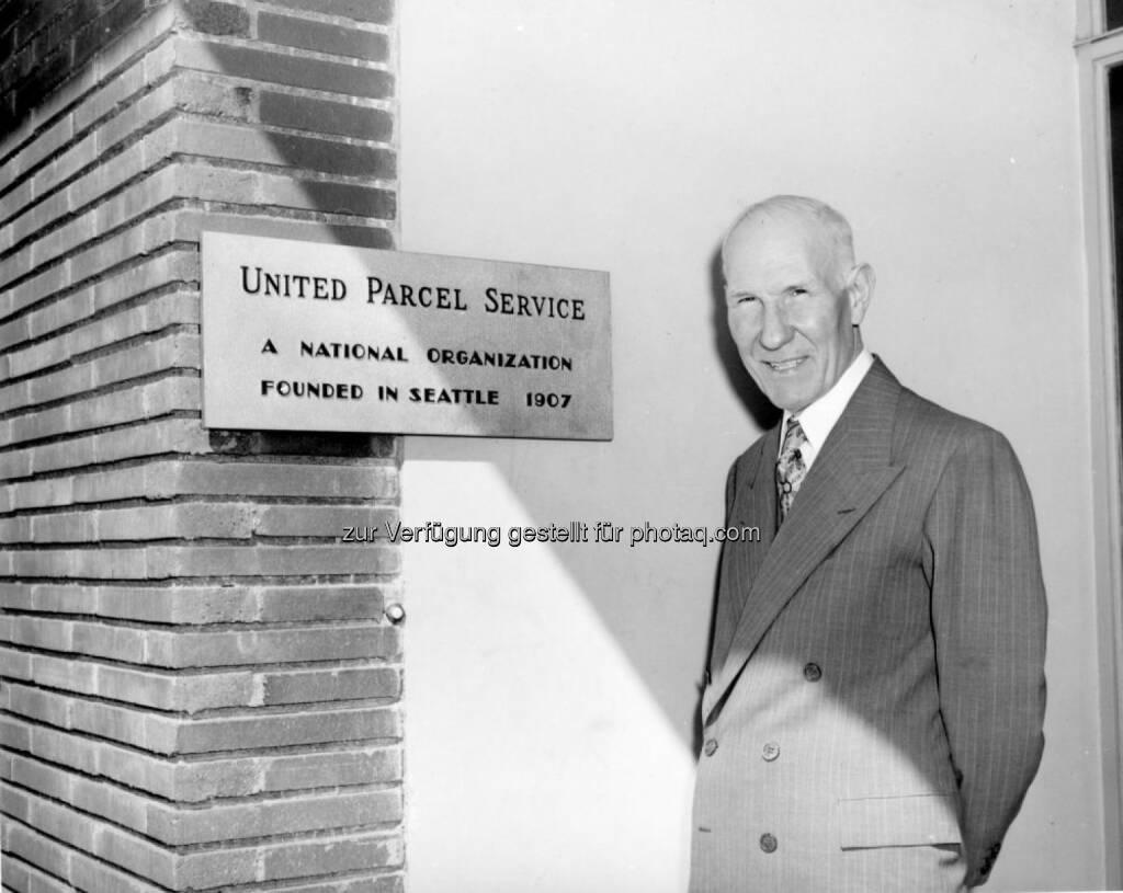 UPS Gründer James E. Casey in die Logistics Hall of Fame aufgenommen, © Aussender (02.12.2016)