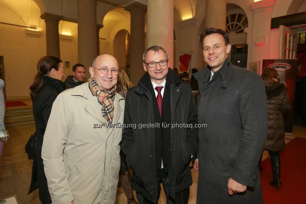 Ludwig Nießen, Fritz Strobl, Christoph Boschan - Wiener Börse Punsch 2016, © Wiener Börse AG/APA-Fotoservice/Tanzer (02.12.2016)