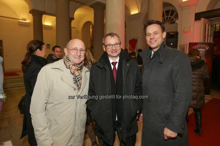 Ludwig Nießen, Fritz Strobl, Christoph Boschan - Wiener Börse Punsch 2016