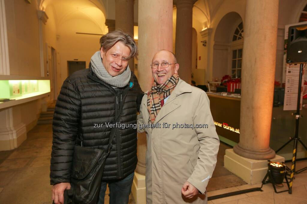 Robert Gillinger (Börse Express), Ludwig Nießen CTO und COO Wiener Börse AG, © Wiener Börse AG/APA-Fotoservice/Tanzer (02.12.2016)