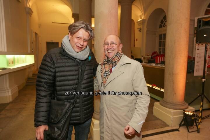 Robert Gillinger (Börse Express), Ludwig Nießen CTO und COO Wiener Börse AG