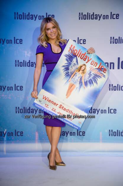 Sylvie Meis: Wiener Stadthalle: Wiener Stadthalle: Sylvie Meis leiht Holiday on Ice ihre Stimme (C) Eventpress/Fuhr, © Aussender (03.12.2016)