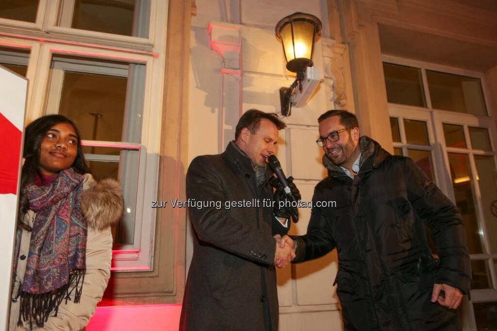 Christoph Boschan CEO Wiener Börse, Markus Ullmer Vorstand C-Quadrat Kapitalanlage AG, © Wiener Börse AG/APA-Fotoservice/Tanzer (04.12.2016)