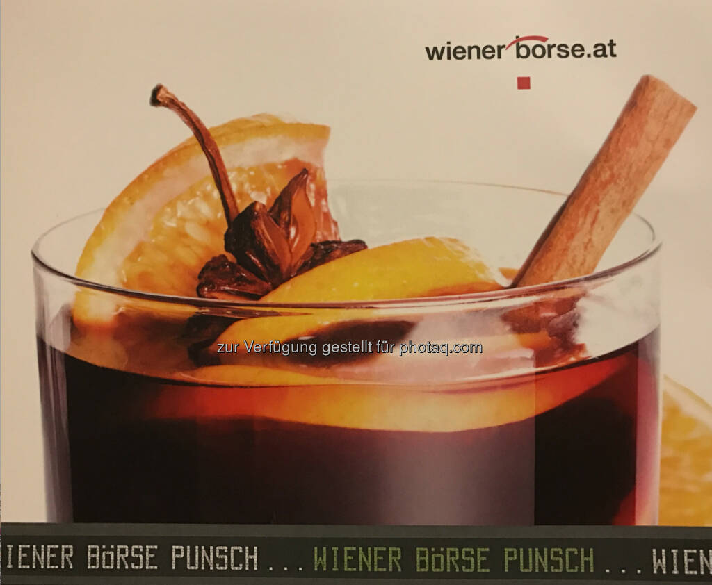 Einladung Wiener Börse Punsch (c) Wiener Börse, © Wiener Börse AG/APA-Fotoservice/Tanzer (04.12.2016)