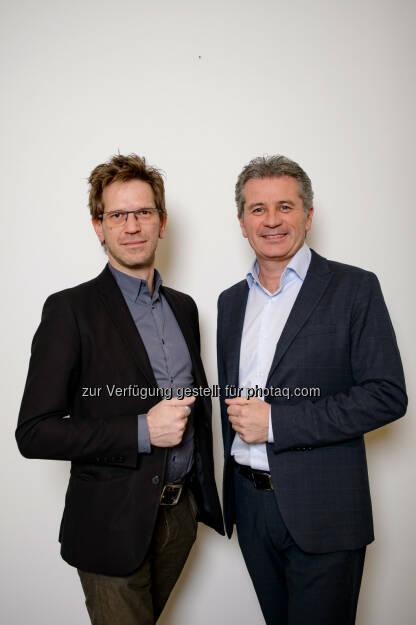 Gerd Leiter und Markus Galli - Regionalmedien Austria AG: Neues Führungsteam der WOCHE Kärnten steht fest (Fotocredit: WOCHE Kärnten), © Aussendung (05.12.2016)