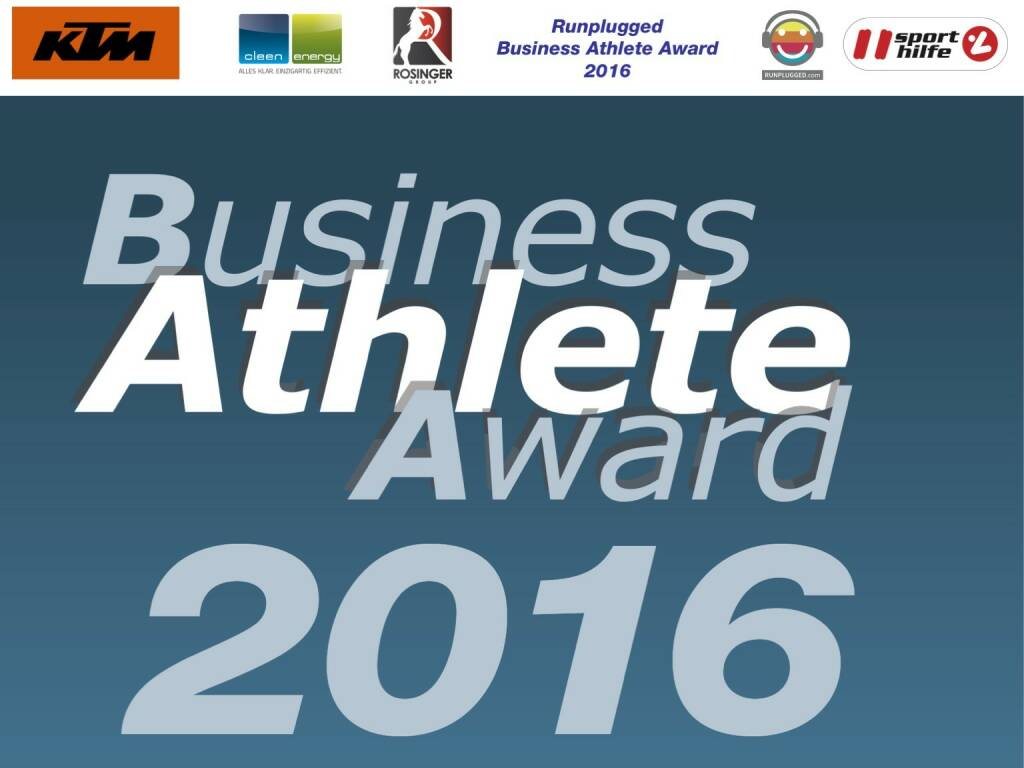 Business Athelete Award 2016 (06.12.2016)