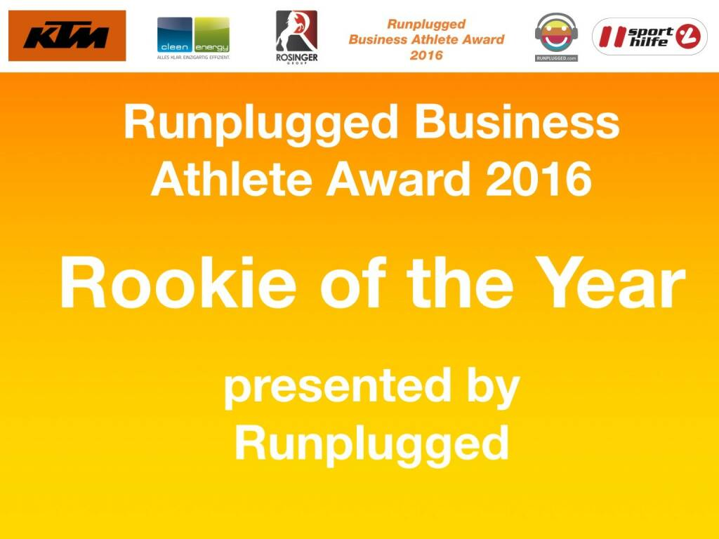 Business Athelete Award 2016 - Rookie of the Year (06.12.2016)