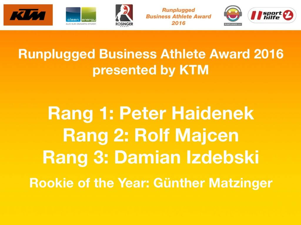 Business Athelete Award 2016 - Sieger (06.12.2016)