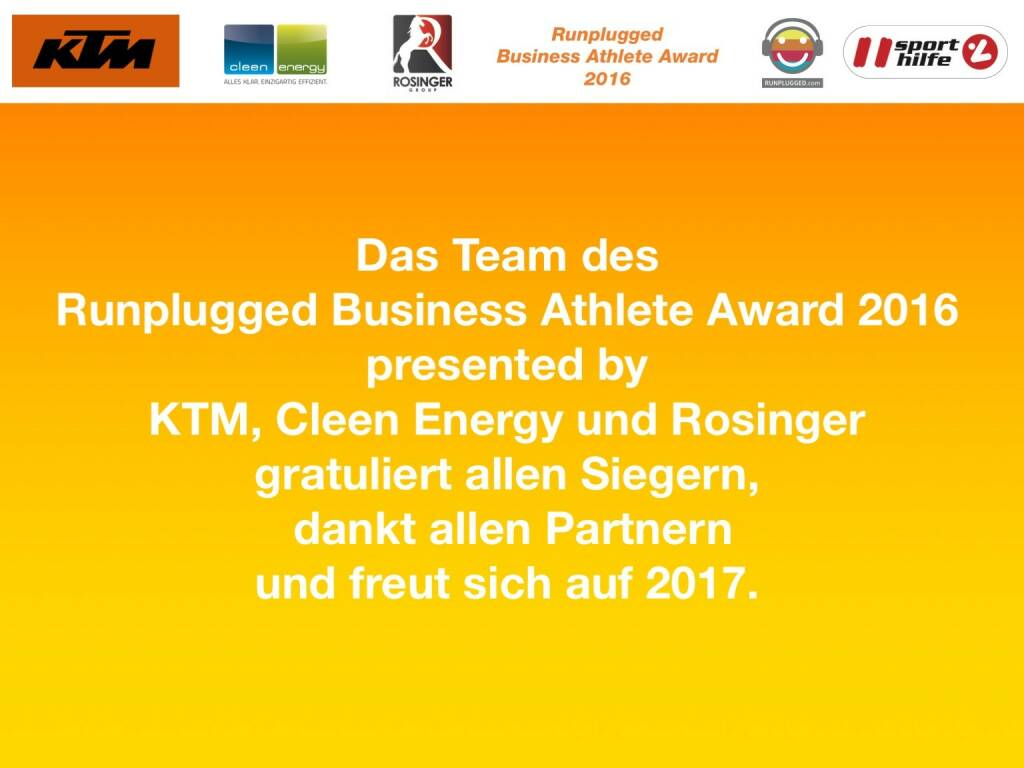 Business Athelete Award 2016 - Danke (06.12.2016)
