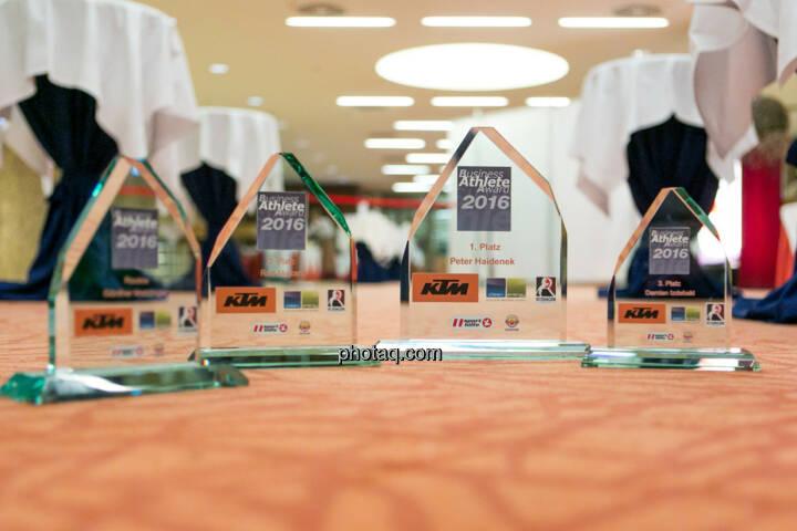 Business Athlete Award 2016, Pokale