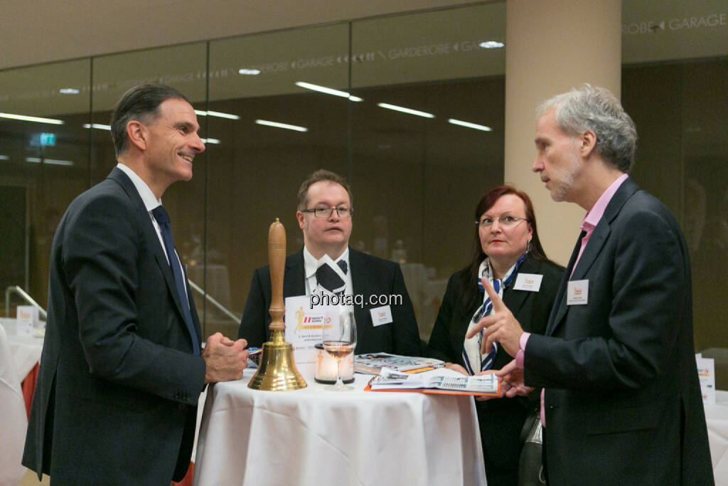 Peter Haidenek (Polytec, Sieger Business Athlete Award 2016), Gregor Rosinger (Rosinger Group), Yvette Rosinger, Christian Drastil (BSN), © Martina Draper/photaq (06.12.2016)