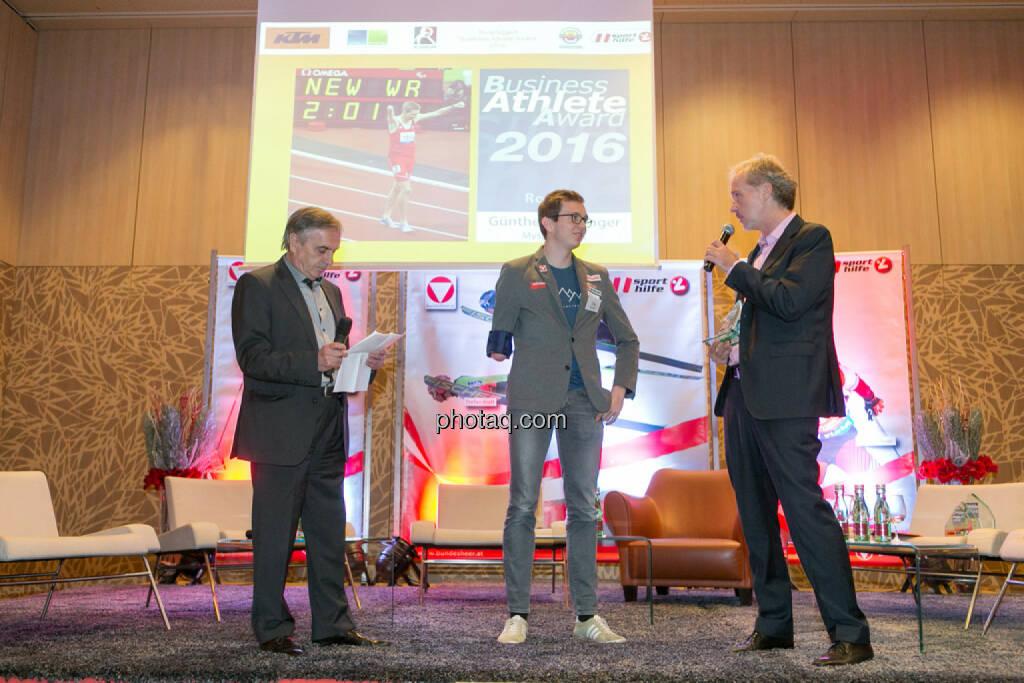 Hans Huber, Günther Matzinger, Christian Drastil (BSN), © Martina Draper/photaq (06.12.2016)