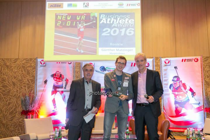 Hans Huber, Günther Matzinger (Rookie of the Year), Christian Drastil (BSN)