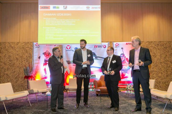 Hans Huber, Damian Izdebski (techbold technology group), Gregor Rosinger (Rosinger Group), Christian Drastil (BSN)