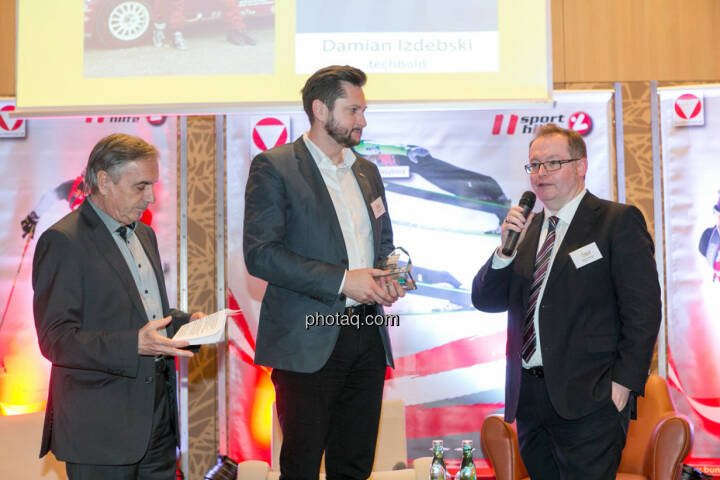 Hans Huber, Damian Izdebski (techbold technology group), Gregor Rosinger (Rosinger Group)