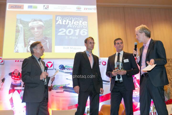 Hans Huber, Rolf Majcen (FTC), Lukas Scherzenlehner (Cleen Energy), Christian Drastil (BSN)