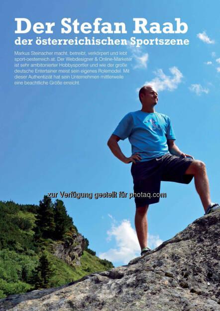 Markus Steinacher im Business Athlete Award Magazine  (06.12.2016)