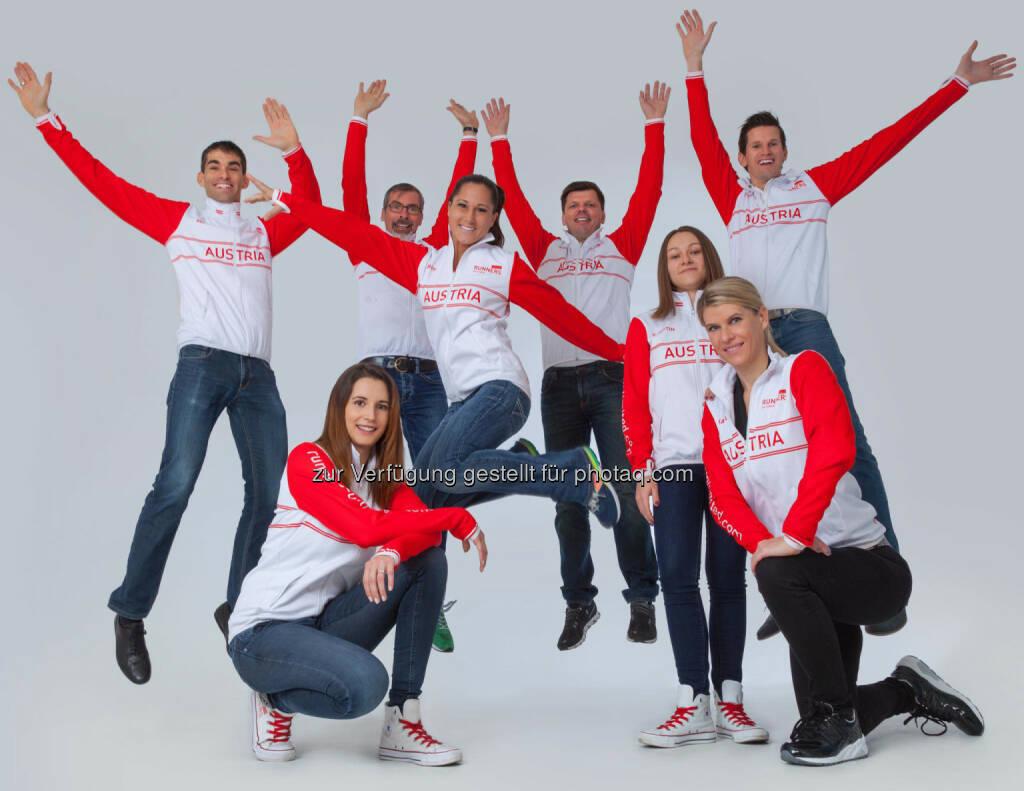Monika Kalbacher mit dem Team der Runners Unlimited (06.12.2016)