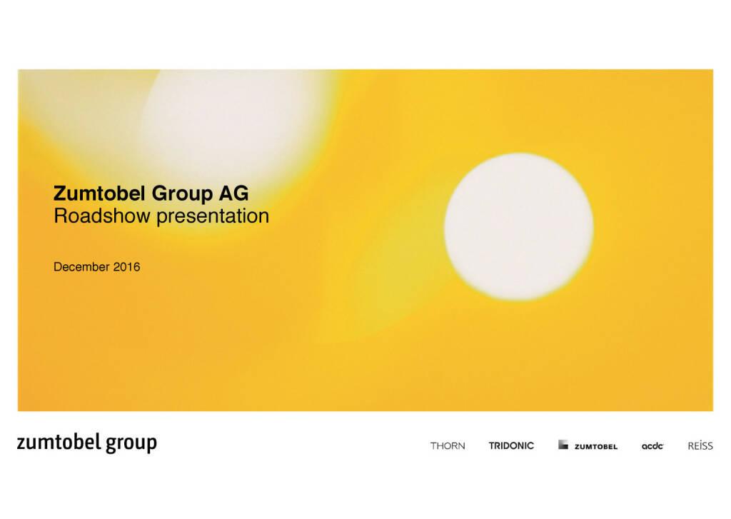 Zumtobel Group AG presentation December 2016 (07.12.2016)