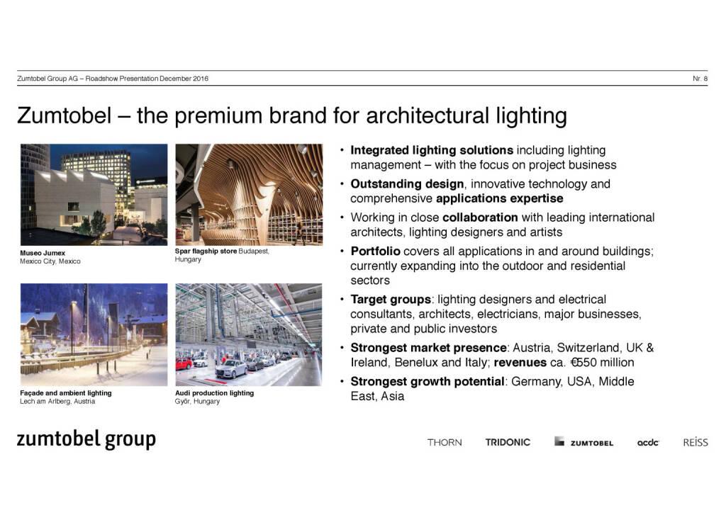 Zumtobel Group - premium brand (07.12.2016)