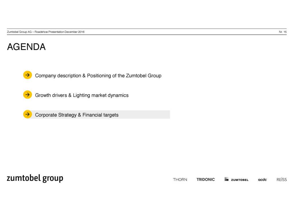 Zumtobel Group - Agenda (07.12.2016)