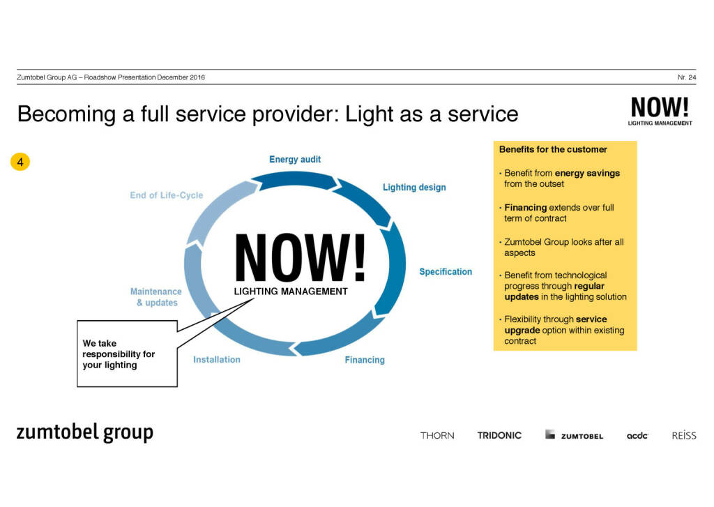 Zumtobel Group - becoming a full service provider (07.12.2016)