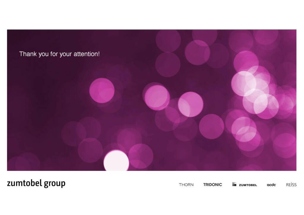Zumtobel Group - thank you (07.12.2016)