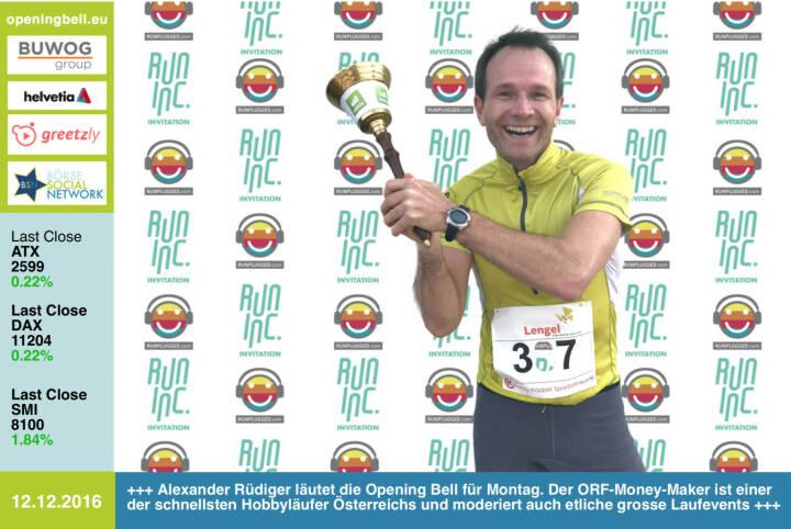 #openingbell am 12.12.: Alexander Rüdiger läutet die Opening Bell für Montag im Rahmen der RunInc.-Invitation für Läufer. Der ORF-Money-Maker ist einer der schnellsten Hobbyrunner Österreichs und moderiert auch etliche grosse Laufevents http://www.alexander-ruediger.at http://www.stiftathlon.at http://www.runinc.at https://www.facebook.com/groups/Sportsblogged
