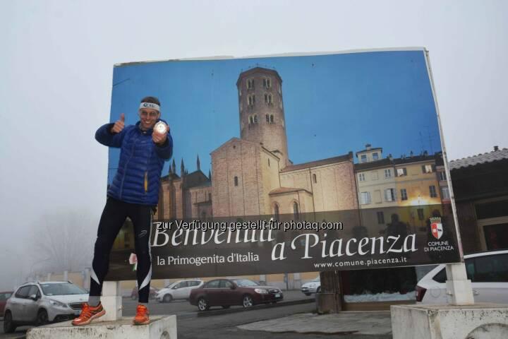 Rolf Majcen beim Treppenlauf in Piacenza