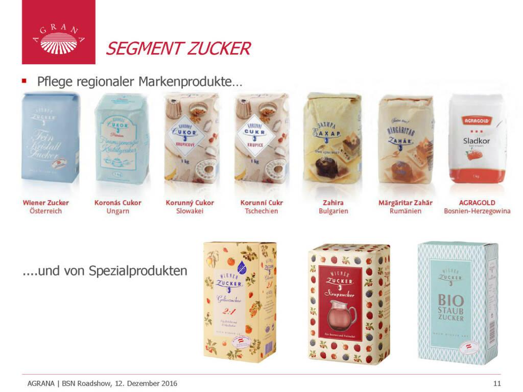 Agrana - Segment Zucker (12.12.2016)