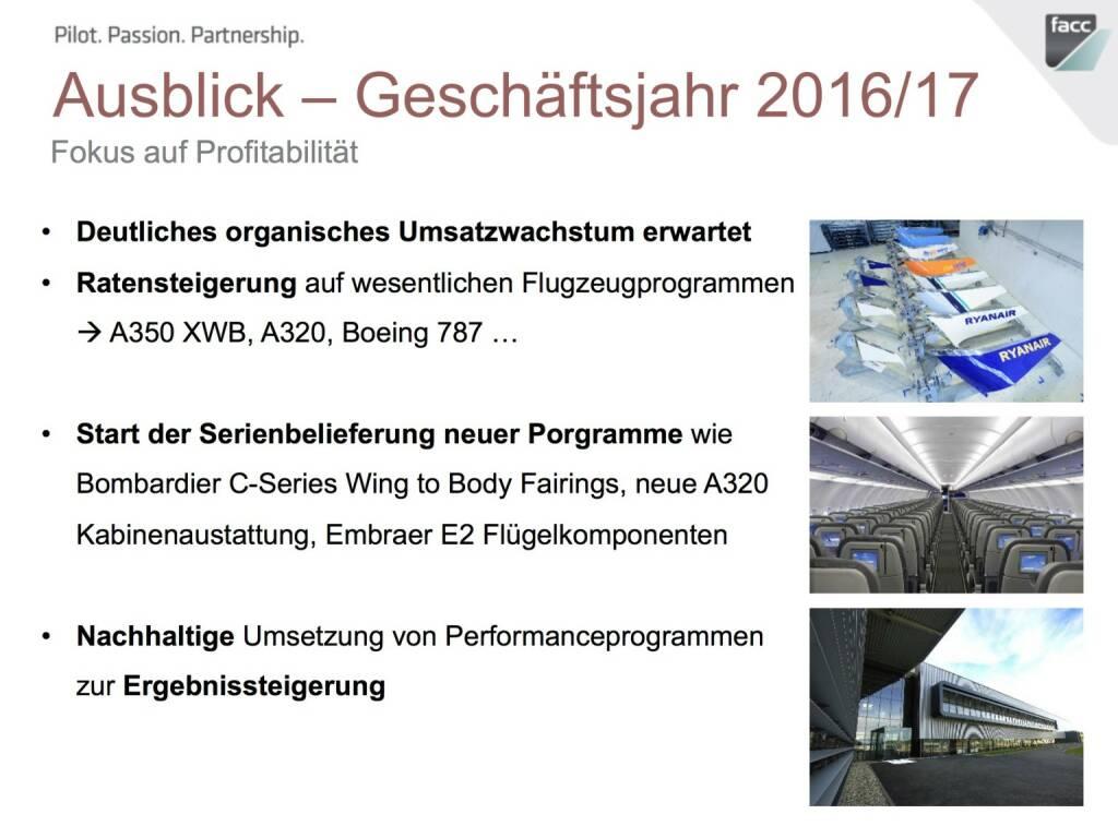 FACC Ausblick Geschäftsjahr 2016/17 (12.12.2016)