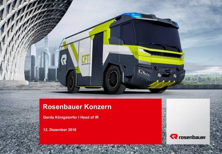 Rosenbauer Konzern Präsentation