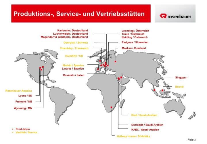 Rosenbauer Produktions-, Service- und Vertriebsstätten