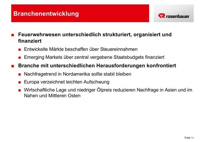 Rosenbauer Branchenentwicklung