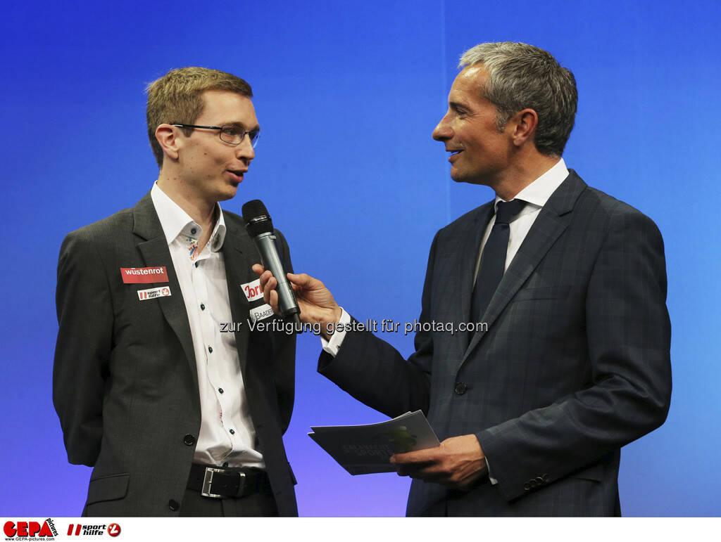 Guenther Matzinger (AUT) und Moderator Rainer Pariasek, Foto: GEPA pictures/ Markus Oberlaender (08.05.2013)