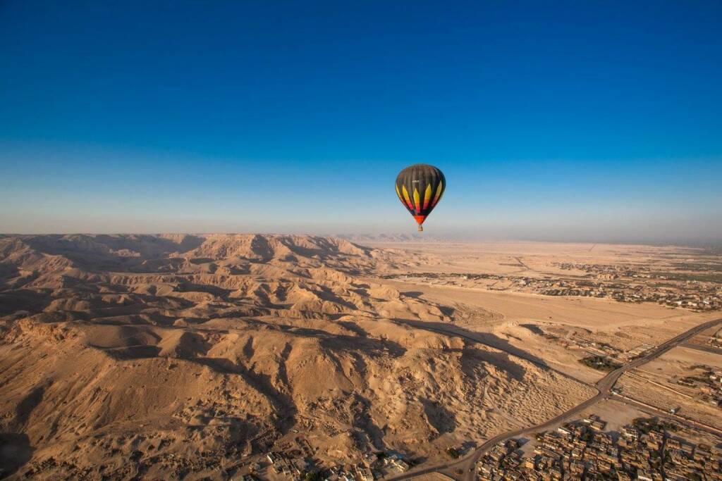 Ballon Luft steigt Ägypten, © Dirk Herrmann (13.12.2016)