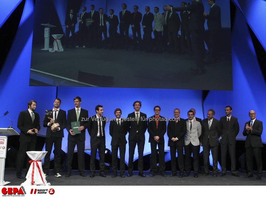 Team des UVC Graz, Foto: GEPA pictures/ Markus Oberlaender (08.05.2013)