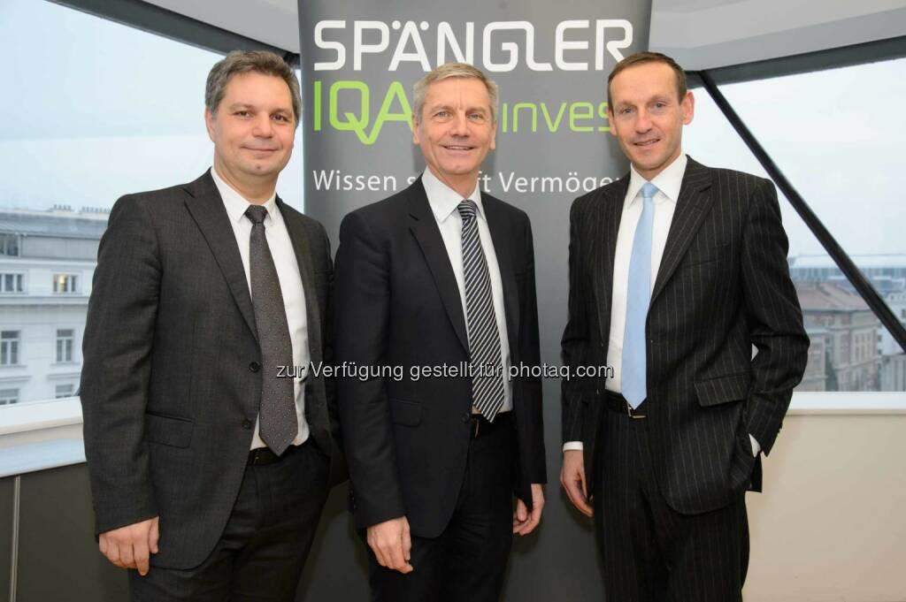 Thomas Steinberger, CIO, Josef Zechner und Markus Ploner (alle Spängler Iqam Invest): Spänger-Iqam: Pressekonferenz zum Marktausblick 2017 (C) Spängler Iqam Invest, © Aussender (15.12.2016)