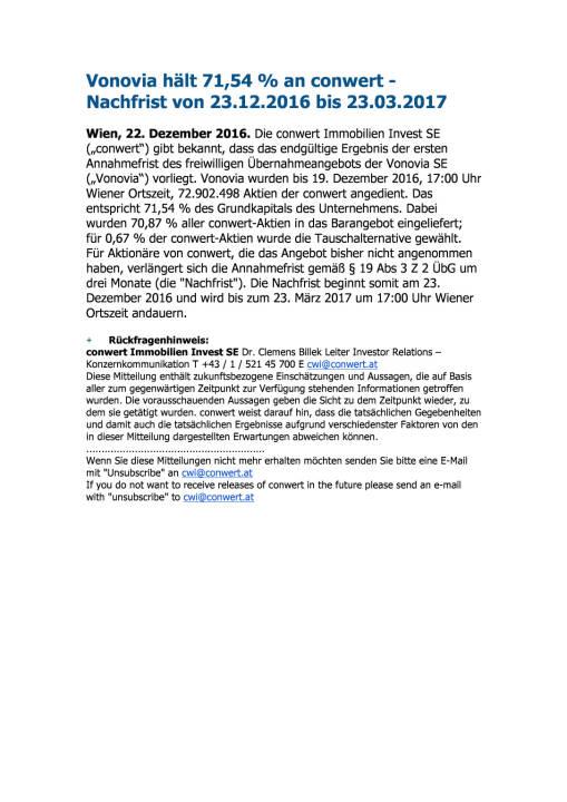 Vonovia hält 71,54 % an conwert , Seite 1/1, komplettes Dokument unter http://boerse-social.com/static/uploads/file_2037_vonovia_halt_7154_an_conwert.pdf