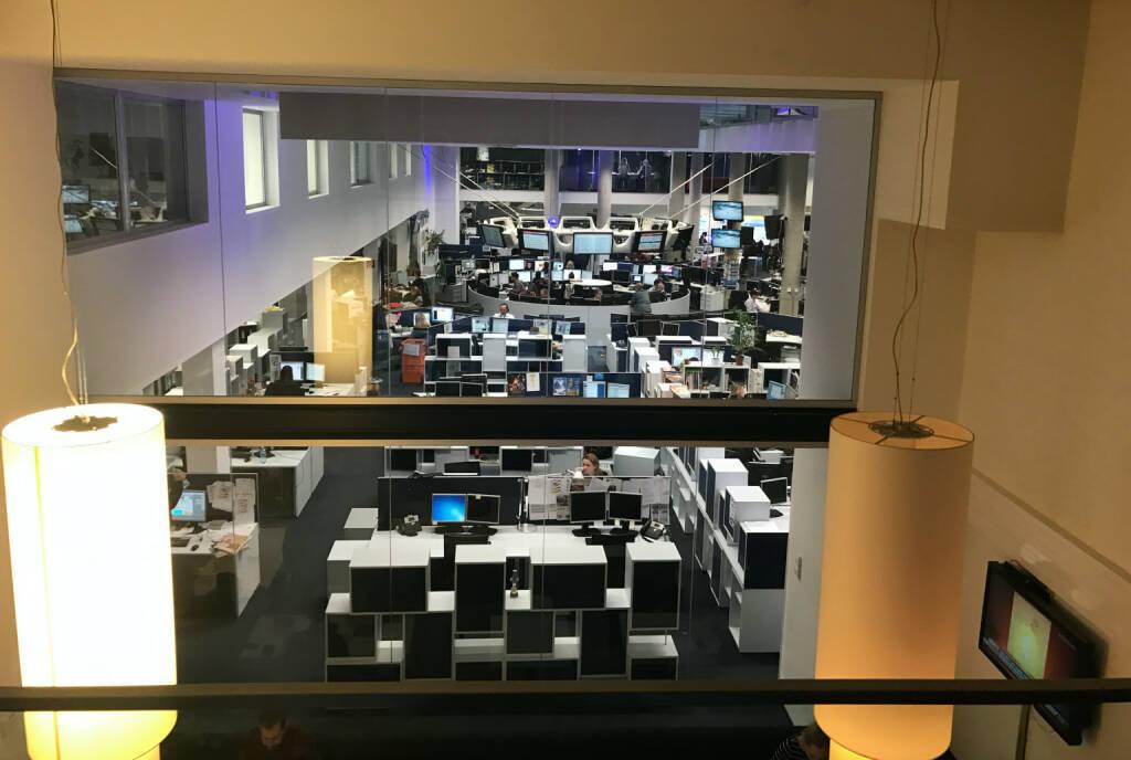 Blick auf den Österreich-Newsroom (22.12.2016)